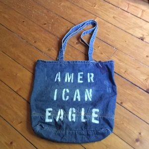 🦅American Eagle distressed jean tote🦅